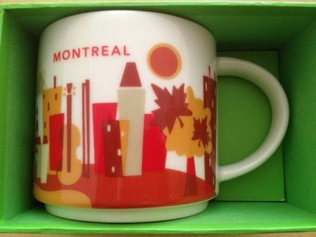 Starbucks City Mug You Are Here In Montreal Starbucks City Mugs Starbucks Mugs Mugs