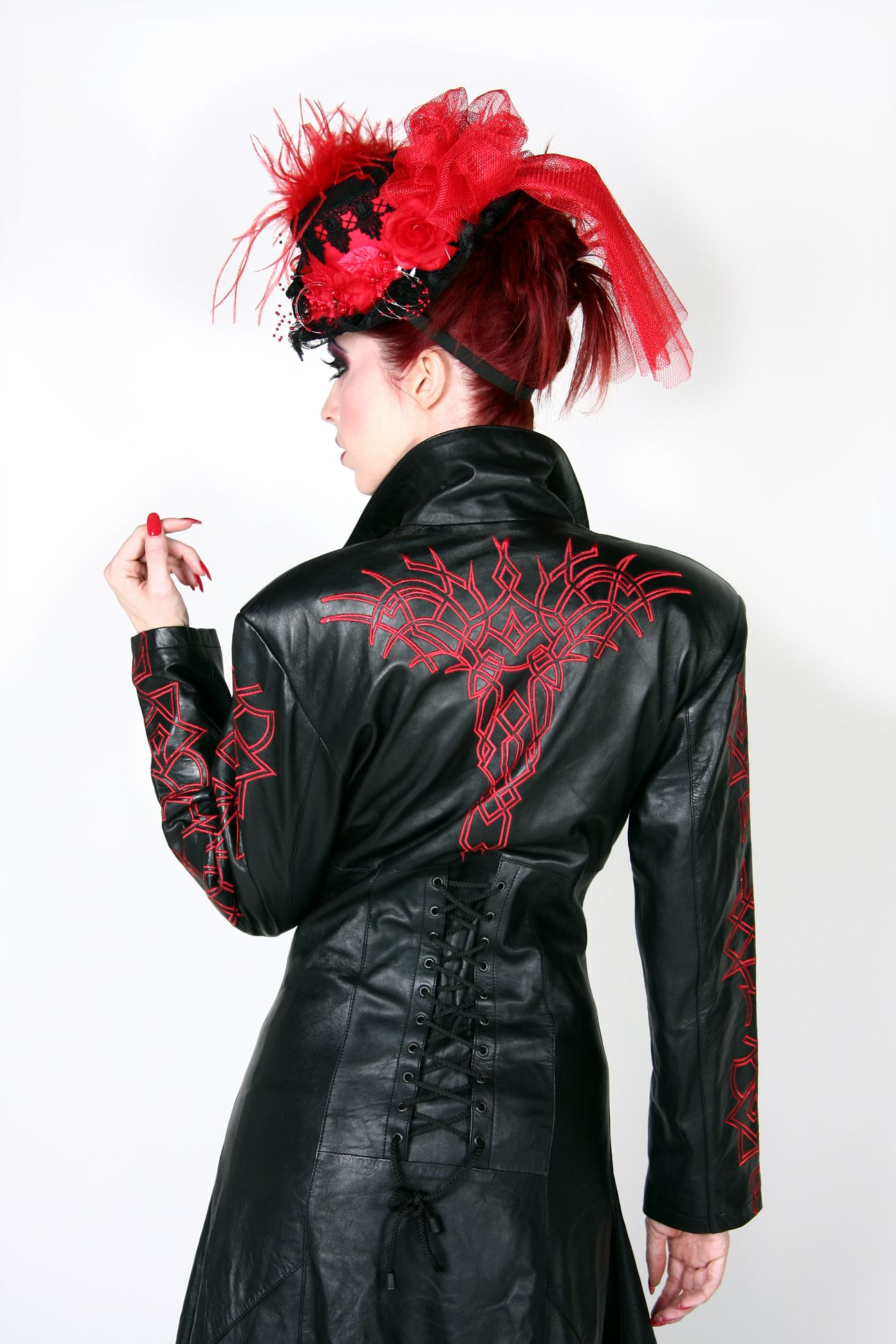 Devious Ladies Leather Trench Coat Leather trench coat
