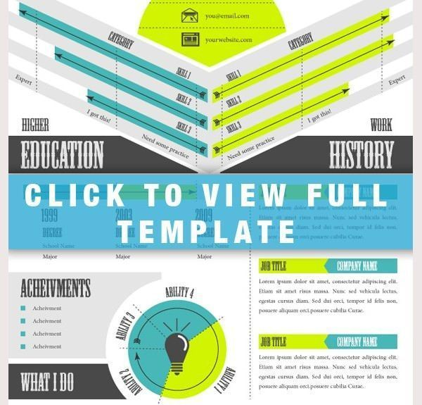 Infographic Cv Template 794 #ResumeDesigntemplate