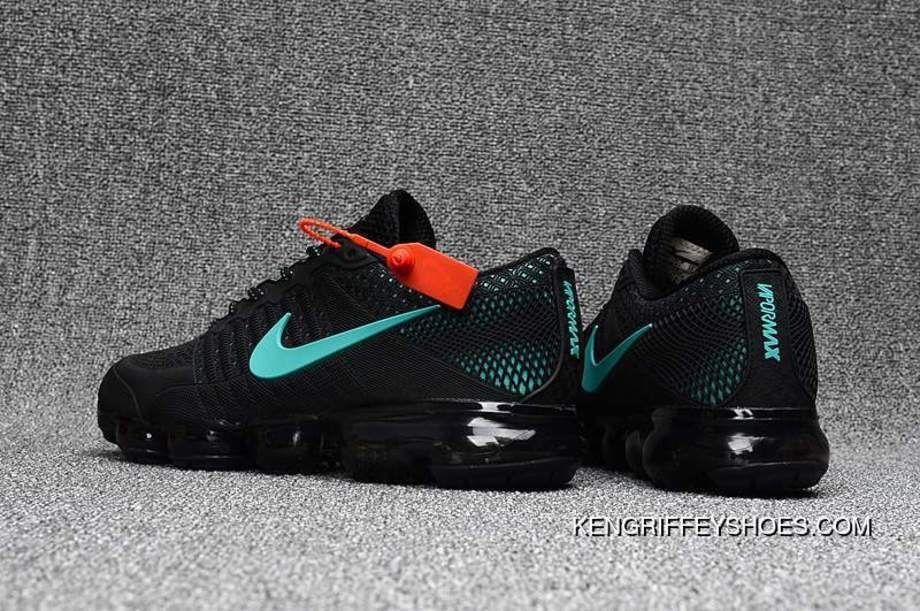 Cheap Nike Air Vapormax Flyknit Black Glacier Blue 2018