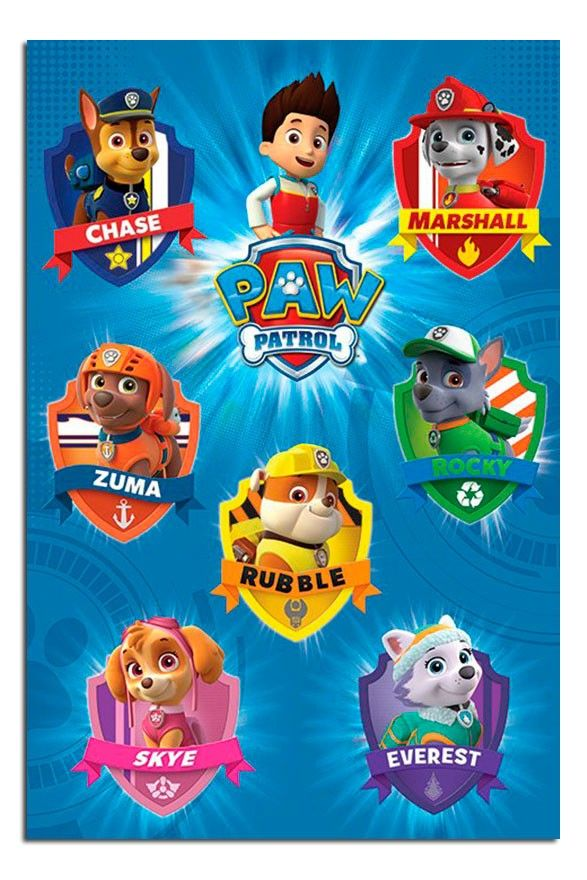 Populaire Paw Patrol Crests Poster | iPosters | iPosters … | PAW PATROL  IJ35
