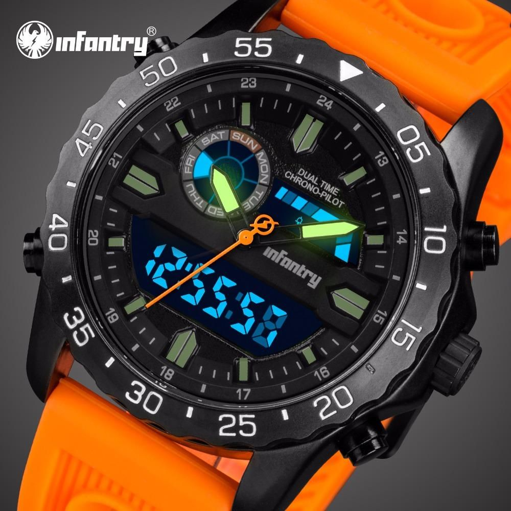 Mens Watches Analog Digital Military Watch Men Tactical
