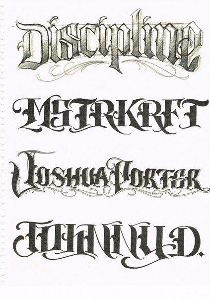Gentleman Tattoo Flash Script Book