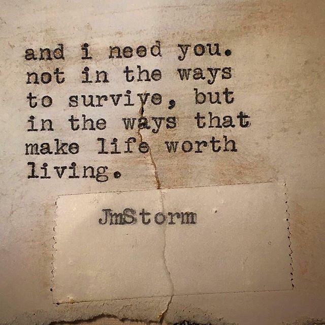 Need.  In My Head is available through Amazon. Link in bio.  #jmstorm #jmstormquotes #inmyhead