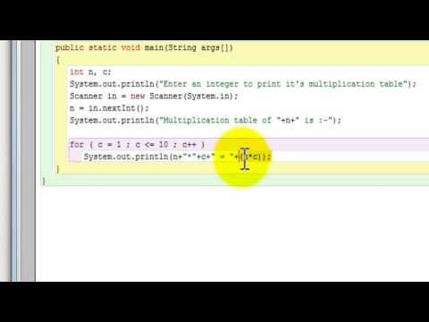How to prints multiplication table of a number entered by the user - multiplication table