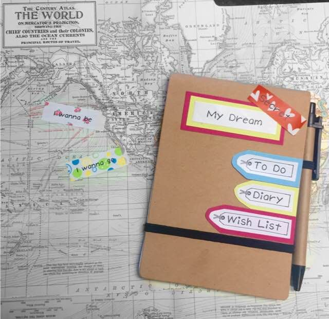 decorate your dream book, to do list, diary. every thing feels