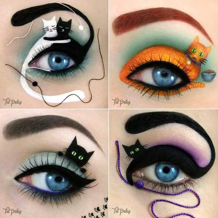Cat Eyes Eye Makeup Art Cat Eye Makeup Makeup Illustration