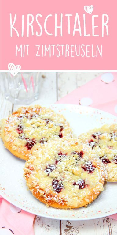 Photo of Cherry thaler with cinnamon sprinkles | Streusel-Hefetaler | Thermomix recipe