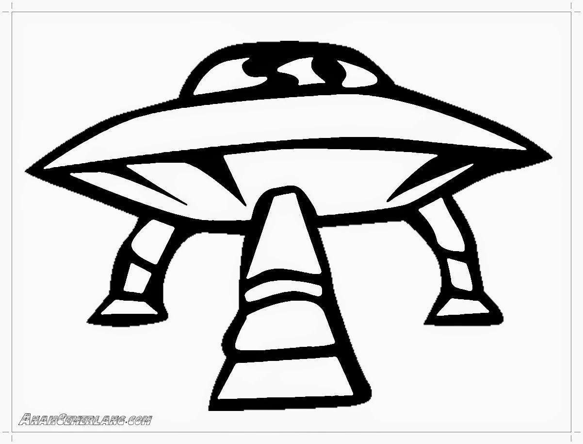 mewarnai gambar pesawat UFO