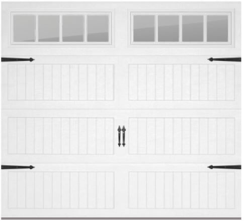 Chi 5951 Carriage Long Panel With Straps And Handles And Madison Glass Chi Garage Doors Garage Doors Dream House