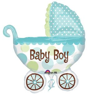 Beautiful Baby Boy Foil Balloon for Baby Shower #sempertexeurope