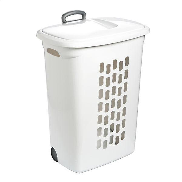 Rolling Hamper With Wheels In 2020 Laundry Basket With Lid
