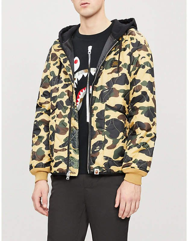 c4dd10eb629 A Bathing Ape Quilted camouflage-print shell jacket