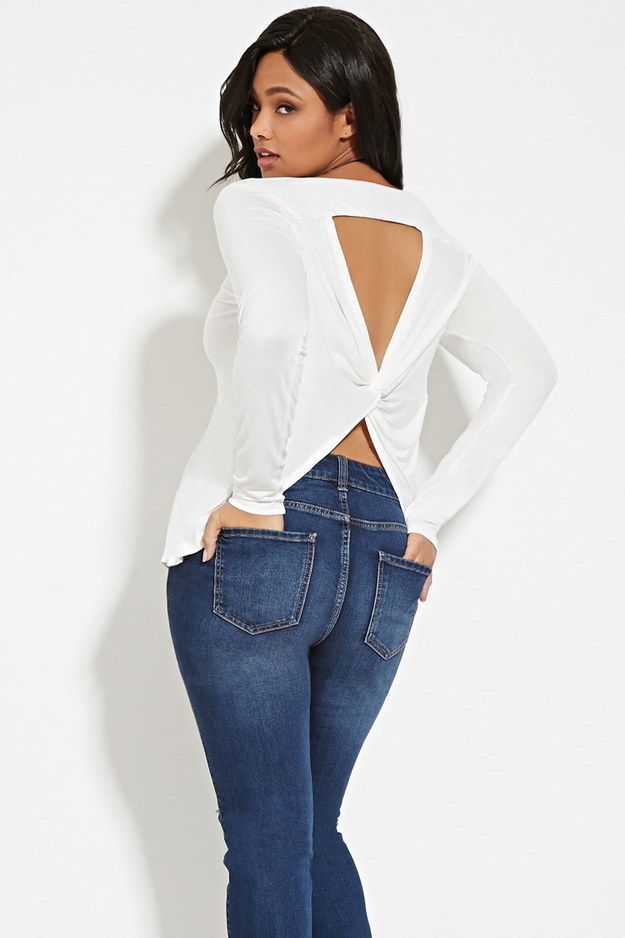 893d1d63893 This twist-back top ($12.90): | 38 Highly Rated Forever 21 Items That People  Actually Swear By