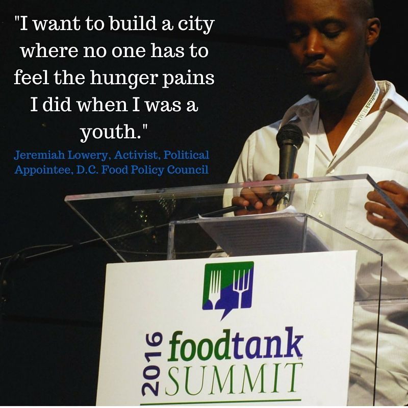 Keynote Jeremiah Lowery, Political Appointee, D.C. Food Policy Council.  Watch Now Live @ www.foodtank.com #foodtank