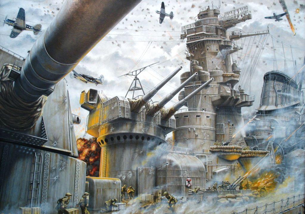 El último combate del Yamato. Más en www.elgrancapitan.org/foro