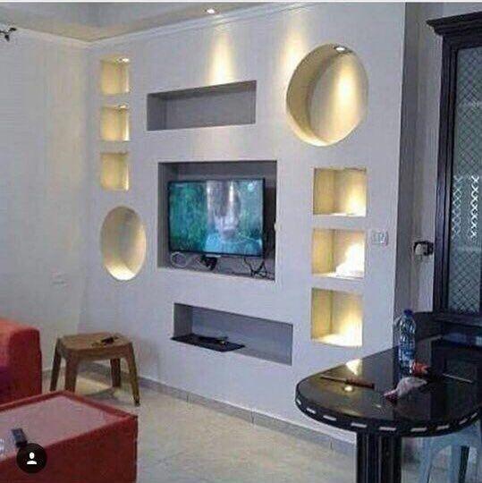 اصباغ وديكورات عباد الرحمن ساده ايطالي ورق حائط ارضيات بركيه ديكورات منزليه اسقف معلقه للتواصل واتس 5599 Wall Tv Unit Design Wall Unit Designs Tv Room Design
