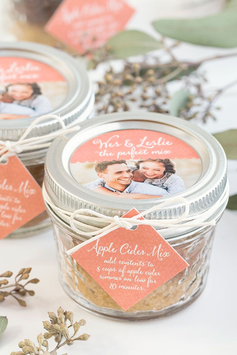 Fall Wedding Favor Apple Cider Mix Fall Wedding Ideas