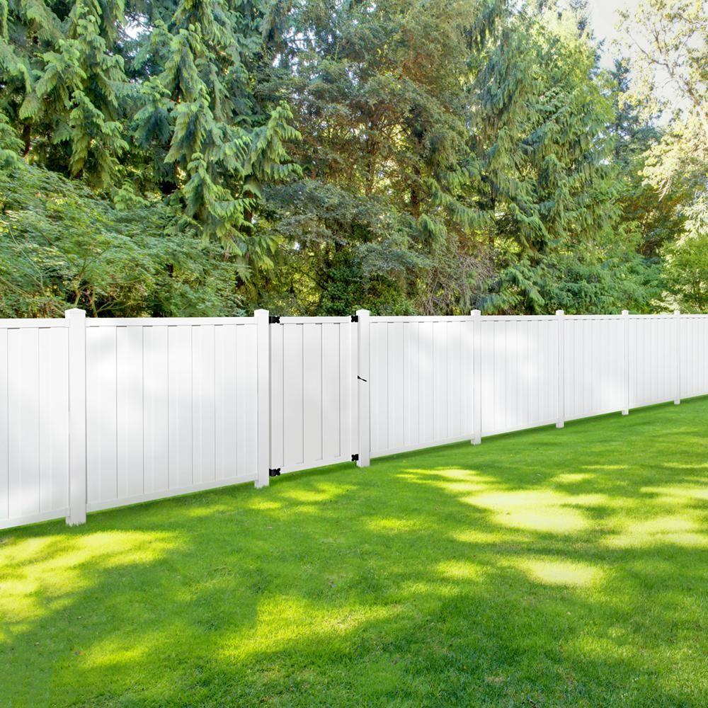 Veranda Bridgeport 6 Ft H X 6 Ft W White Vinyl Privacy Fence Panel Includes 4 Brackets 373421 The Home Depot In 2020 Vinyl Privacy Fence Privacy Fence Panels Fence Panels
