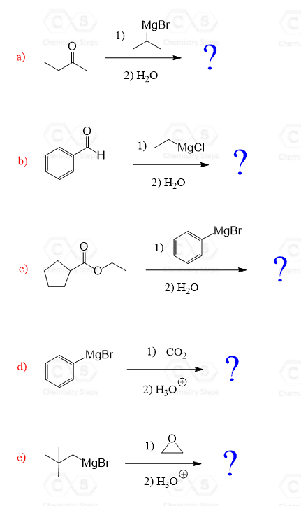 In The Following Practice Exercise We Will Determine The Major Product Of A Grignard Reagent With An Aldeh In 2020 Organic Chemistry Chemistry Organic Chemistry Study