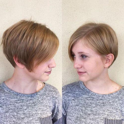 short sleek pixie hairstyle for fine thin hair