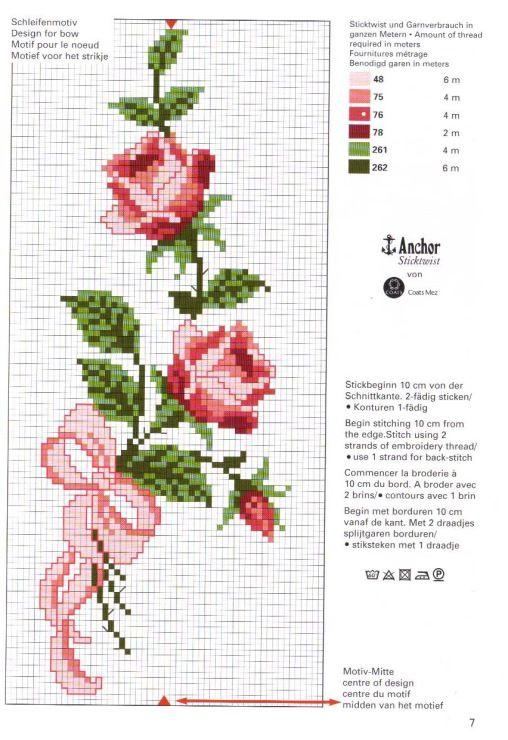 Pin de Georgina Palma en Bordado | Pinterest | Punto de cruz flores ...