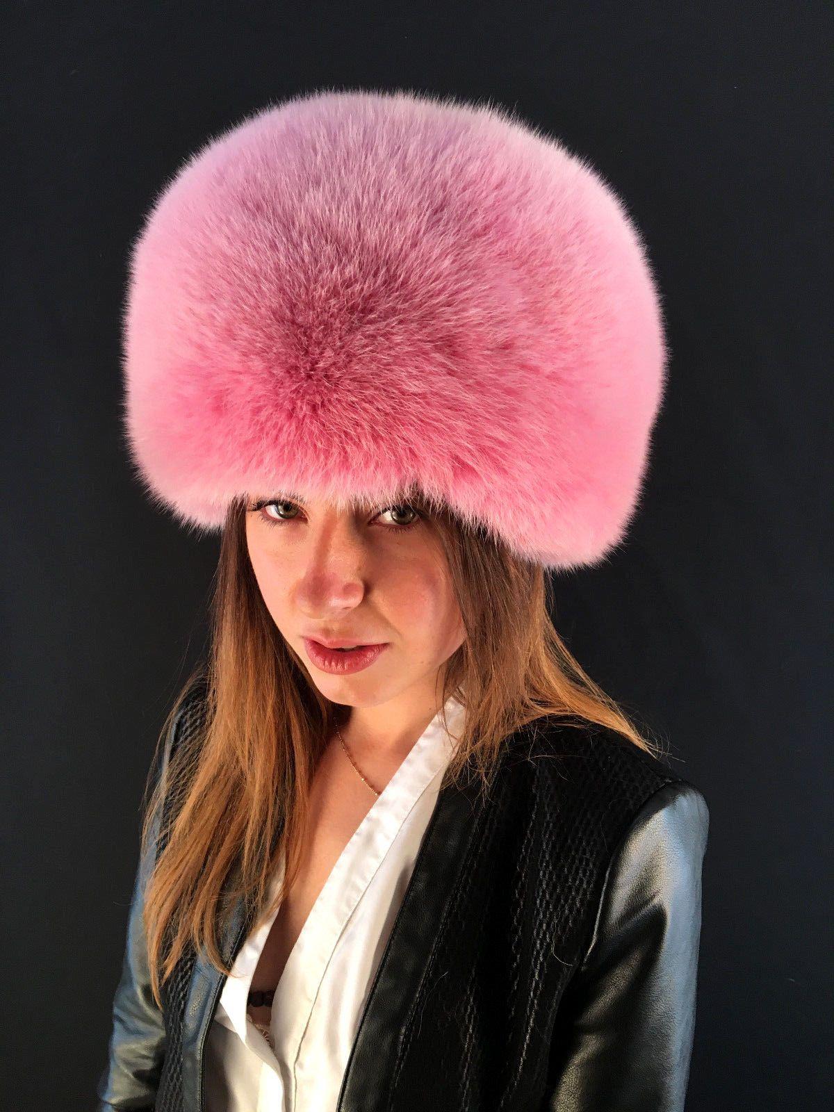 5b030a0e Fox Fur Hat Red Full Fur Beret Style Hat Saga Furs Women's Accessories Hats