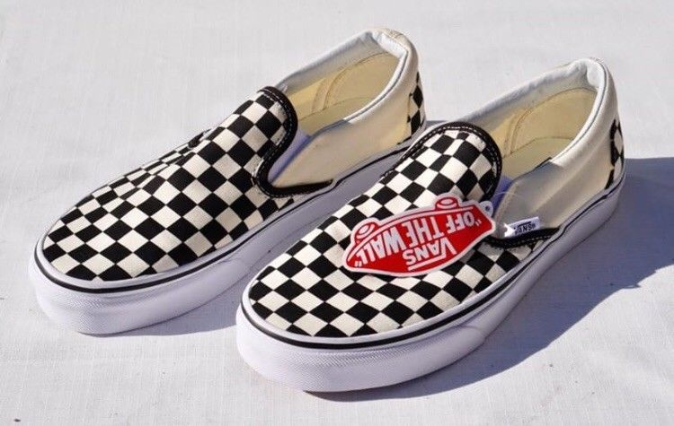 b1709ffc9fbed0 Vans Authentic Slip On Checkerboard Black And White Men 8 Women 9.5   fashion  clothing  shoes  accessories  mensshoes  athleticshoes (ebay link)