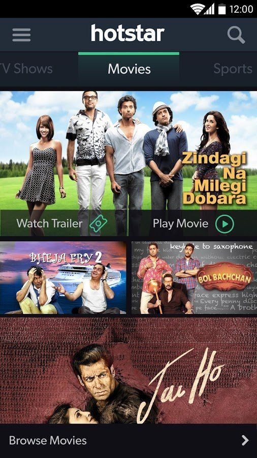Hotstar Android App Allows Watching Television Programs