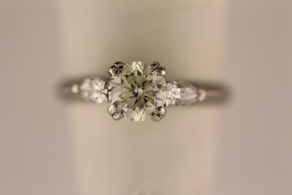 Vintage Art Deco J Clapper Platinum 92ct Diamond Engagement Ring Size 5 Platinum Diamond Engagement Rings Engagement Ring Sizes Diamond Engagement Rings