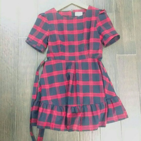 """Pixie Market Rebel Girl Plaid Mini Dress Pixie Market plaid baby doll dress Size m Fully lined. Zips up back. Super cute shape and nice weight fabric. Sash tie for the waist.  I think best for small, or medium if smaller bust Armpit 33"""" 