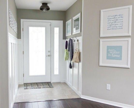 Light Gray Walls White Trim Dark Floors Love The Frames To Bring