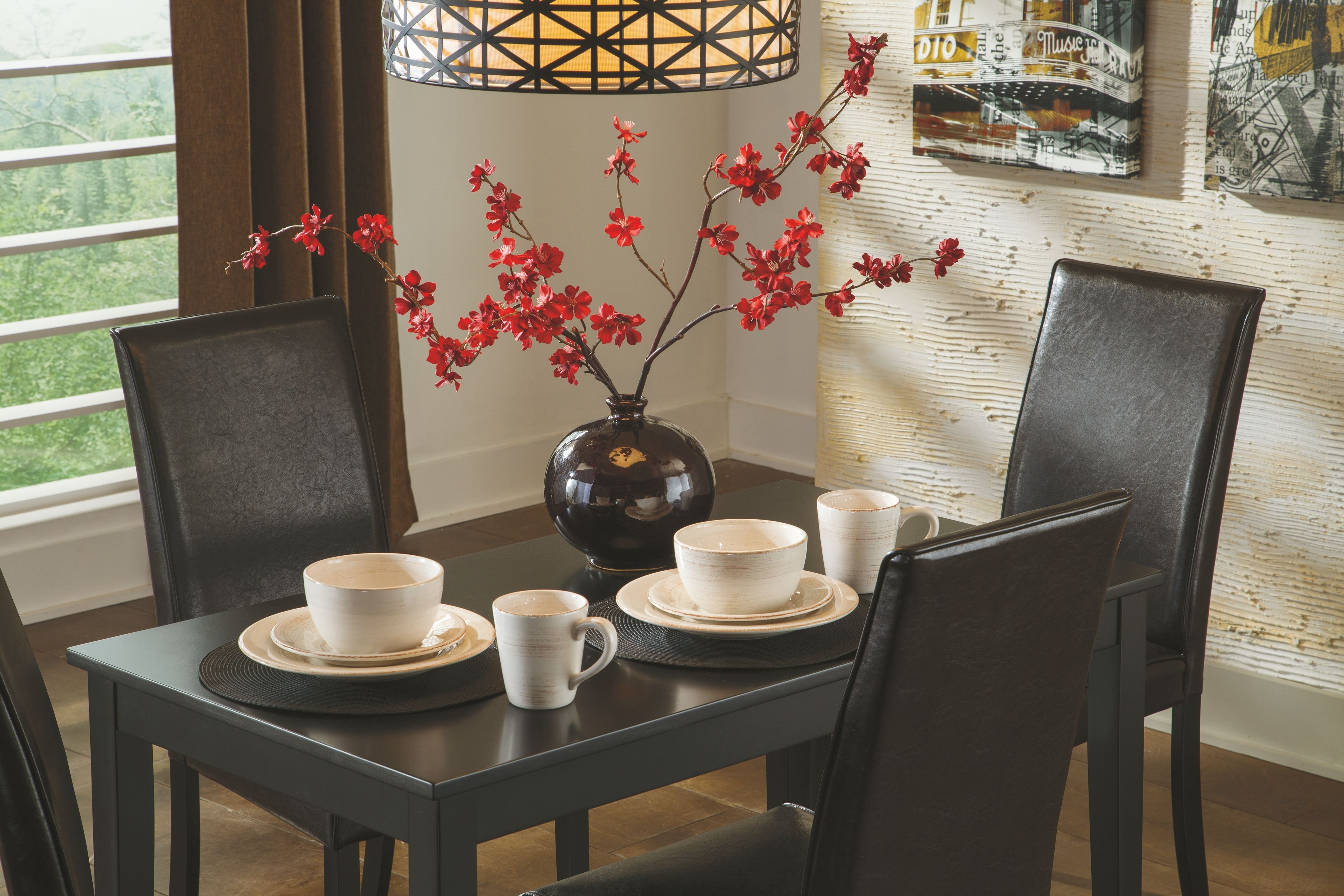 Kimonte Dining Room Table Dark Brown In 2020 Dining Table