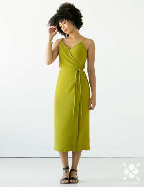 Calvin Wrap Dress Sewing Pattern by True Bias | Cottoneer Fabrics