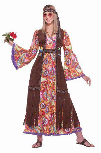 Women\u0027s Hippie Love Child Costume Great for Work Halloween - work halloween ideas