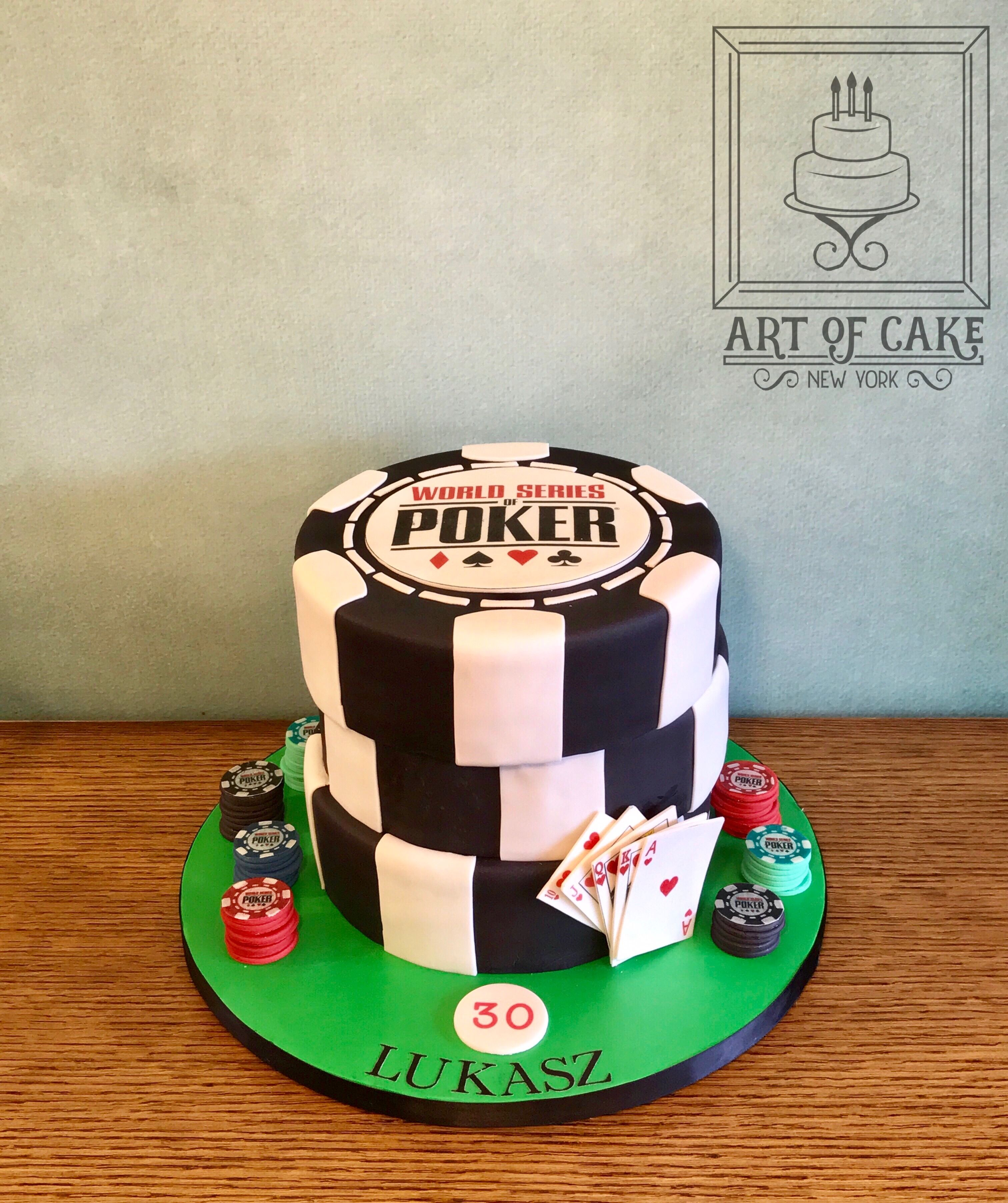 Cool World Series Of Poker Cake Complete With Poker Chips And Flush Of Funny Birthday Cards Online Unhofree Goldxyz