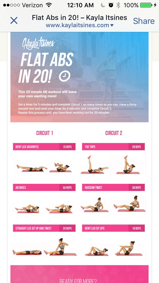 BBG extra exercise abs