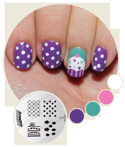 Cupcake nail art. She had a good tutorial.