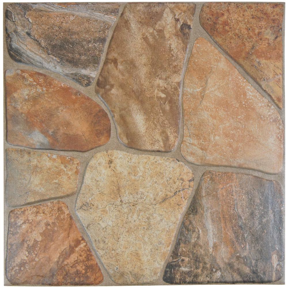 Merola Tile Lyon Beige 17-3/4 in. x 17-3/4 in. Ceramic Floor and ...