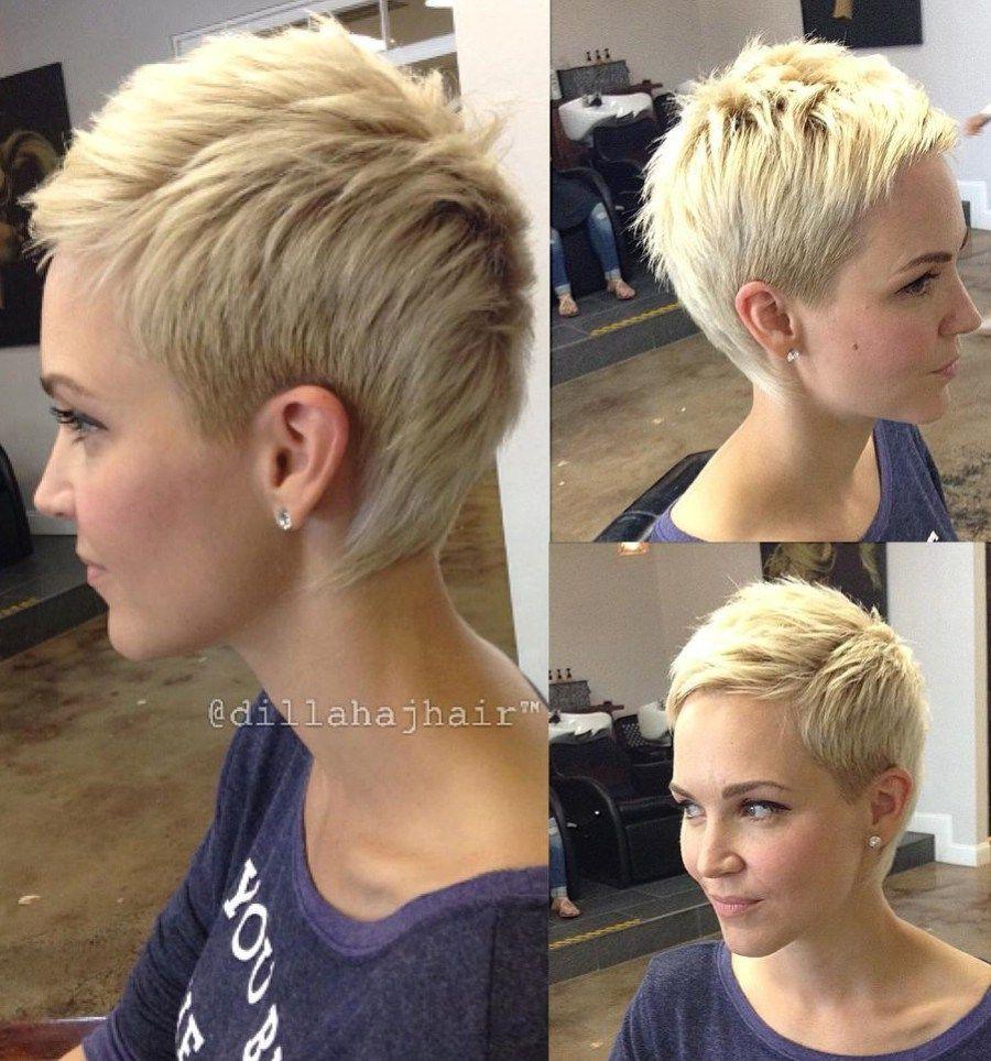cute short pixie haircuts u femininity and practicality blonde