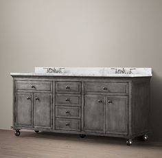 Annecy Metal-Wrapped Double Vanity #frenchindustrial