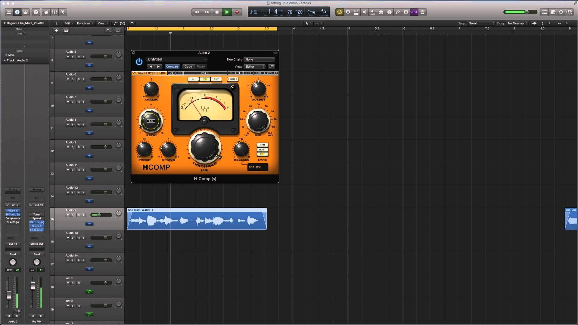 Compressing Vocals - Logic Pro X - Waves - HComp   Music