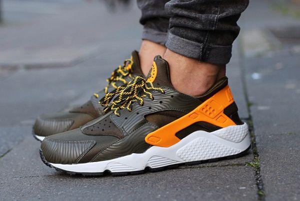 Nike Air Huarache WoHomme Gris orange