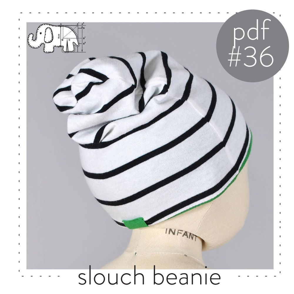 Baby slouchy beanie pdf pattern. Sizing great for newborns all the ...