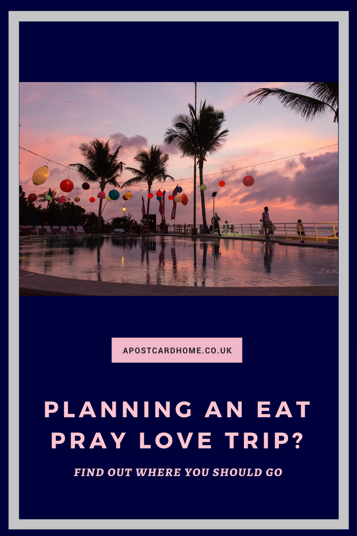Looking for travel inspiration? Love Eat Pray Love? Take this quiz to find  your