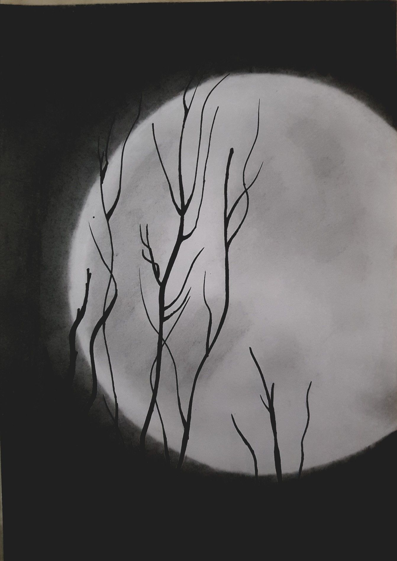Jungle moon night junglemoon moon sketches learn to sketch pencil art