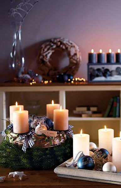 ideen f r kreative adventskr nze l a n t e r n s pinterest kreativ deko weihnachten und. Black Bedroom Furniture Sets. Home Design Ideas