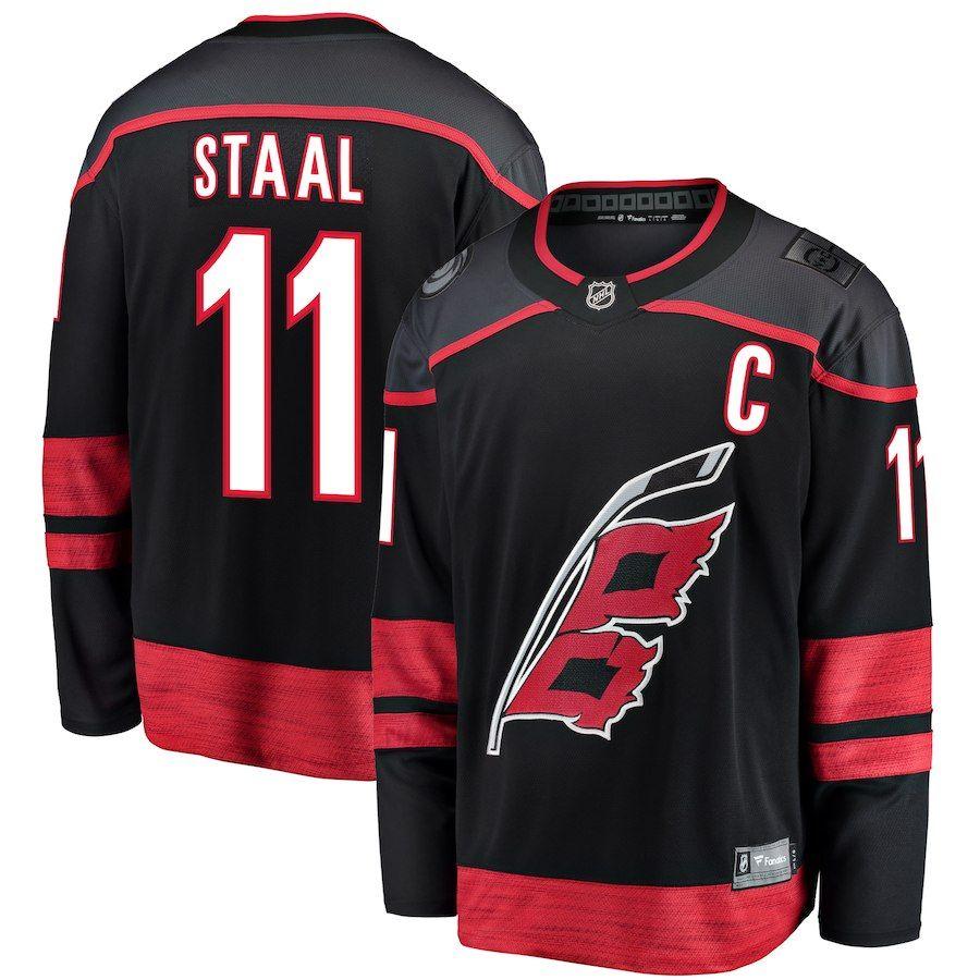 35e16639331 Men s Carolina Hurricanes Jordan Staal Fanatics Branded Black Breakaway  Alternate Player Jersey