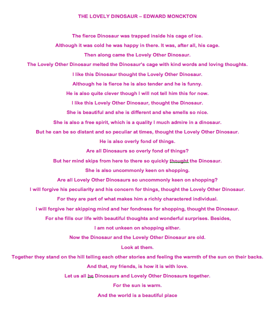 Wedding Reading Lovely Dinosaur Edward Monckton Carrieellis Hahaha It Sounds Like Was Written About Jerms