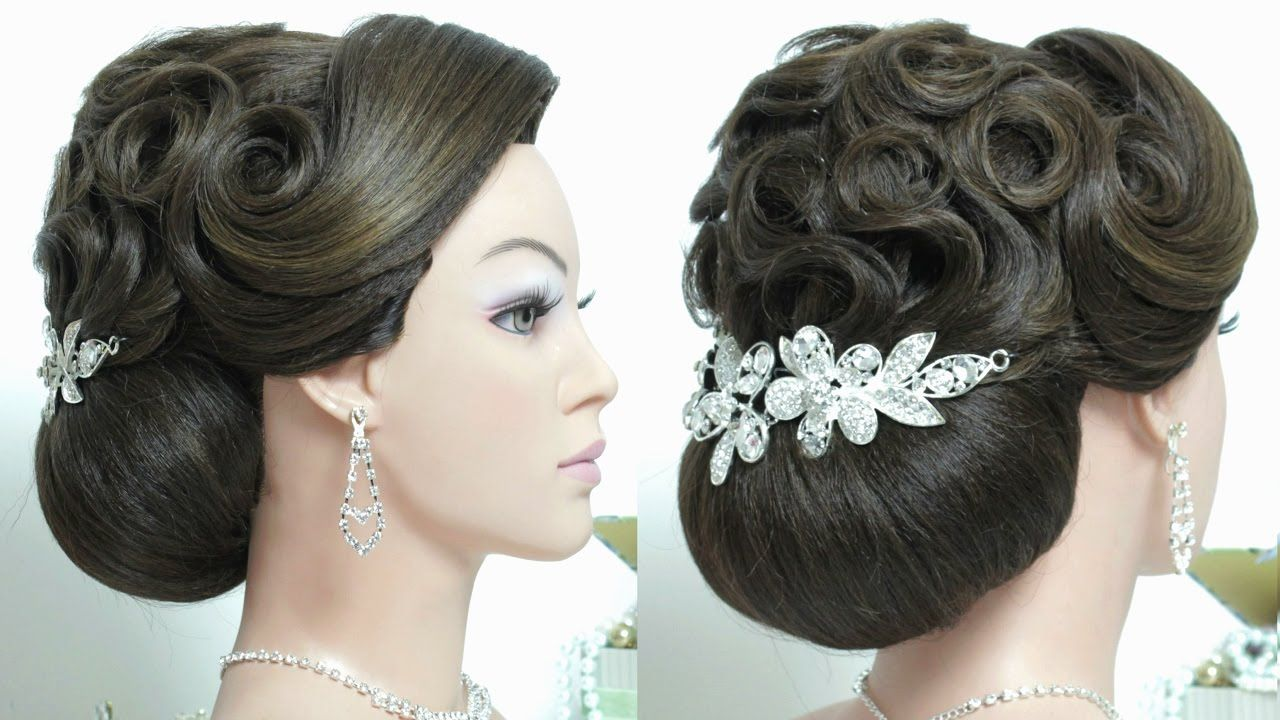 bridal updo. wedding prom hairstyle for long hair tutorial   prom